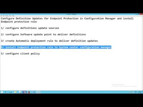 SCCM 2012 R2 - Configure Endpoint protection point and automatic deployment rules