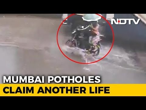 On CCTV, Woman On Bike Dies After Hitting Pothole Near Mumbai