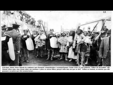 Paixão de  Cristo, evento realizado na freguesia de Agualva ilha Terceira açores na década de  60