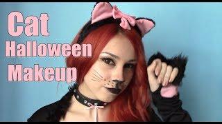 Макияж на Хэллоуин. Кошачий макияж. Makeup for Halloween. Halloween makeup tutorial.(СПАСИБО ЗА ПОДПИСКУ!! Линзы: http://circle-lens.ru/ Корейская косметика: http://www.lunifera.ru/ Официальная группа Вконтакте:..., 2013-10-15T20:12:22.000Z)