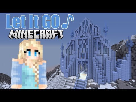 "♪ ""Let it Go"" -A Minecraft Music Video of Disney's hit song (From ""Frozen"")"