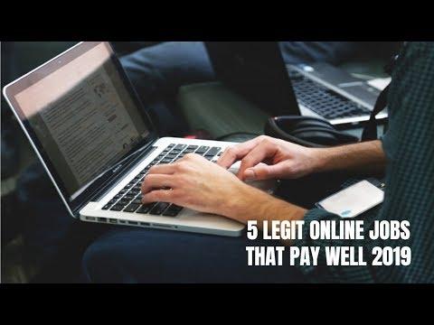 5 Legit Online Jobs That Pay Well 2019