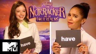 Disney's The Nutcracker And The Four Realms Cast Play Never Have I Ever: Xmas Edition   MTV Movies