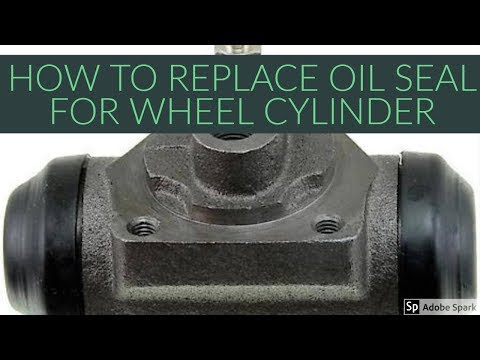 HOW TO REPLACE OIL SEAL FOR BRAKE WHEEL CYLINDERS FOR HYUNDAI EON