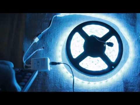 5M 5050 RGB 300LED Strip Lights + Wireless Remote   Unboxing,http   ali pub zw1rx 6$