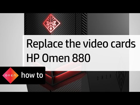 Replacing the Video Cards | HP Omen 880 Desktop Computers | HP