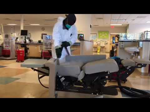 Steam Cleaning And Sanitizing Dialysis Chairs Medical