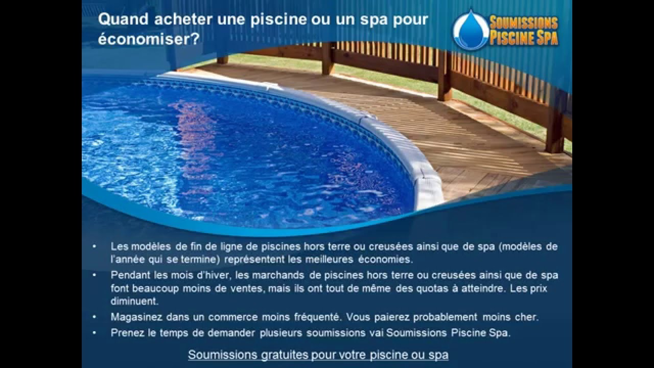 soumissions piscine spa prix pour installation r paration entretien youtube. Black Bedroom Furniture Sets. Home Design Ideas