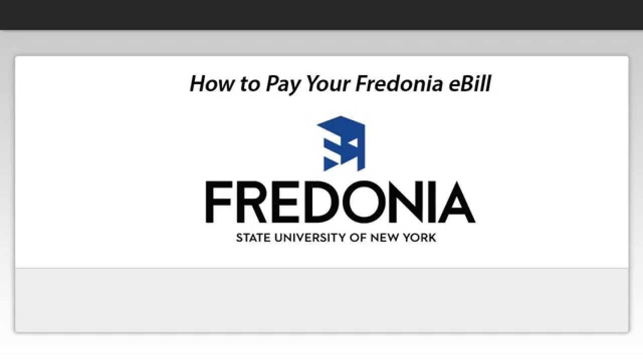 eBill and ePayments   Fredonia edu