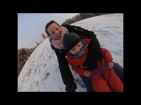 Snow Fun, washington Village. Yi 4k
