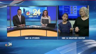 Weather Kid Taylor Final Forecast with Meteorologist Kimberly Newman