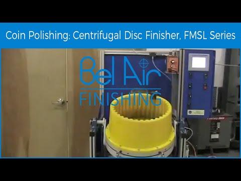 Bel Air Finishing Centrifugal Disc Finisher Polishing Coin Blanks (FMSL60)