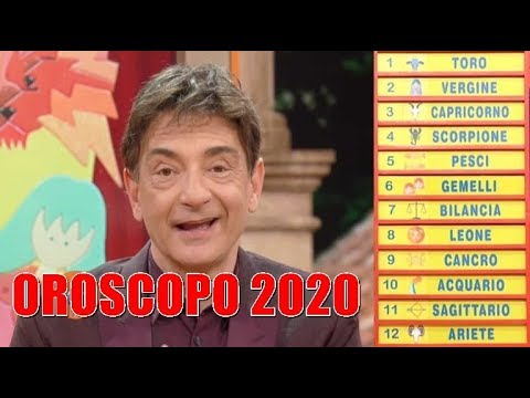 🅾🆁🅾🆂🅲🅾🅿🅾 2020 Paolo Fox ☆ ★ * ☆ ★ *