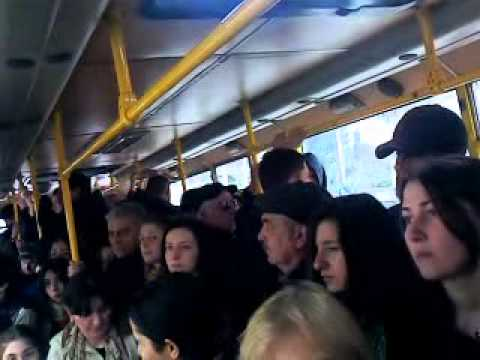 Overcrowded Bus in Tbilisi