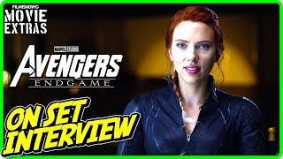 "AVENGERS: ENDGAME | On-set Interview with Scarlett Johansson ""Natasha Romanoff / Black Widow"""
