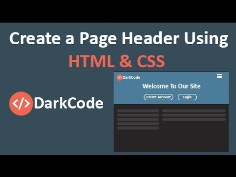 How To Create An Easy Page Header Using [HTML/CSS]
