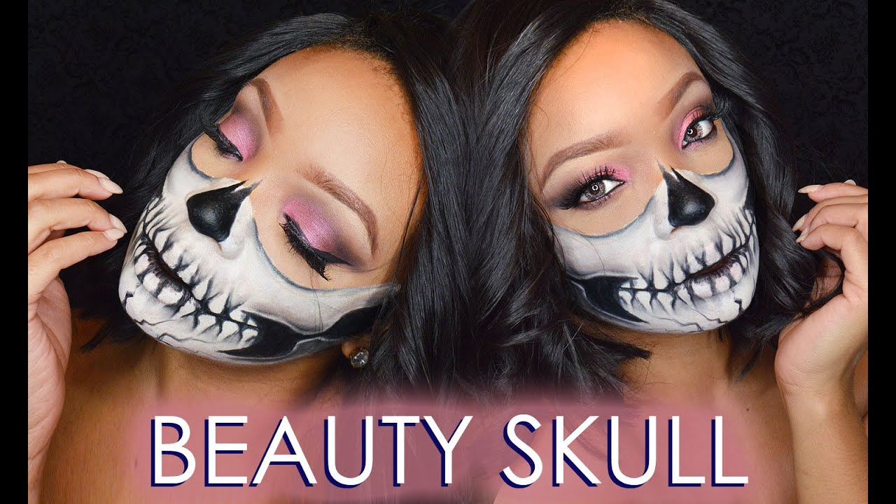 HALLOWEEN BEAUTY SKULL MAKE UP TUTORIAL - YouTube