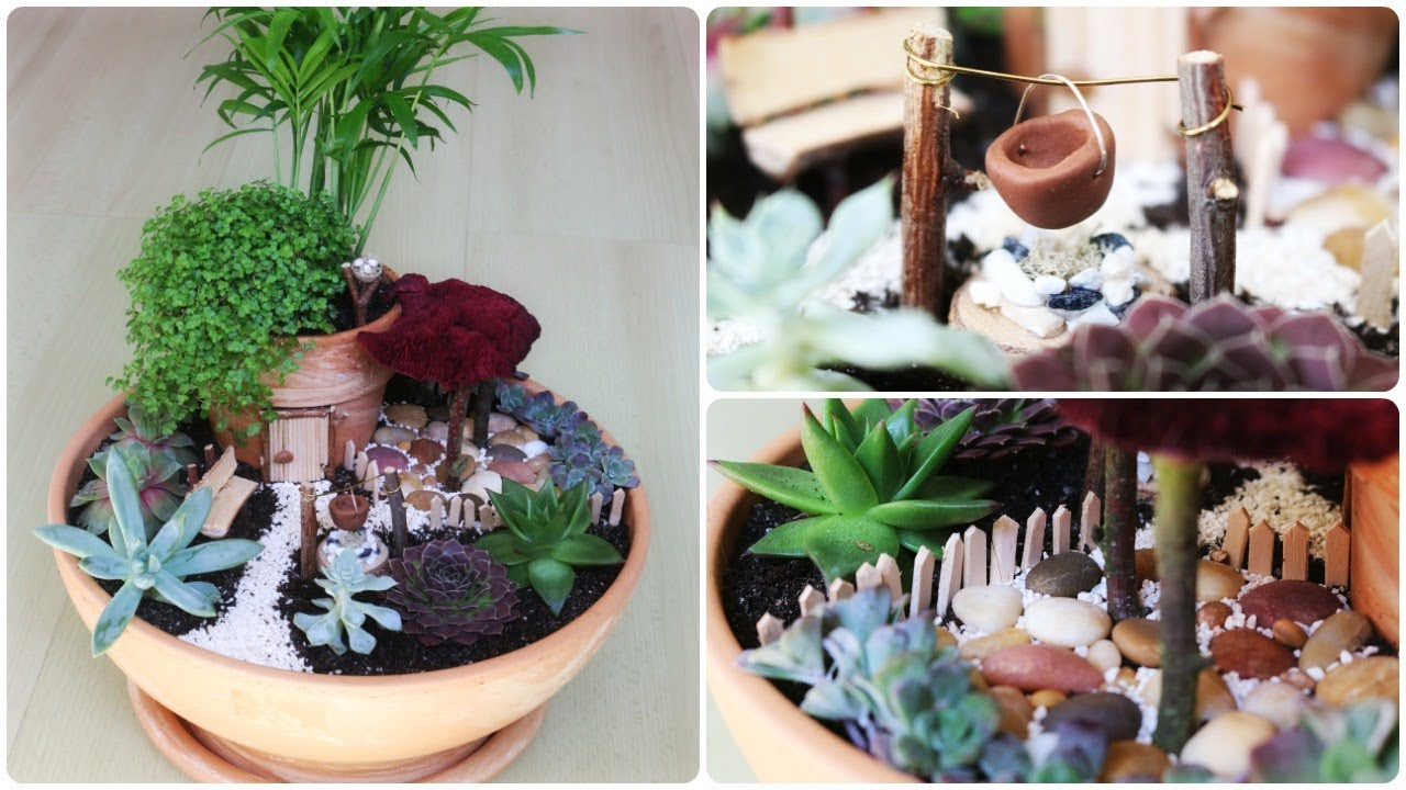 fairy garden 5 diy minigarten im topf youtube. Black Bedroom Furniture Sets. Home Design Ideas