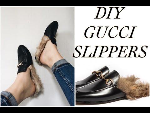 d9897955a11 DIY GUCCI SLIPPERS