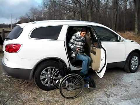 Glide n Go in Passenger Rear of Small SUV GMC Acadia