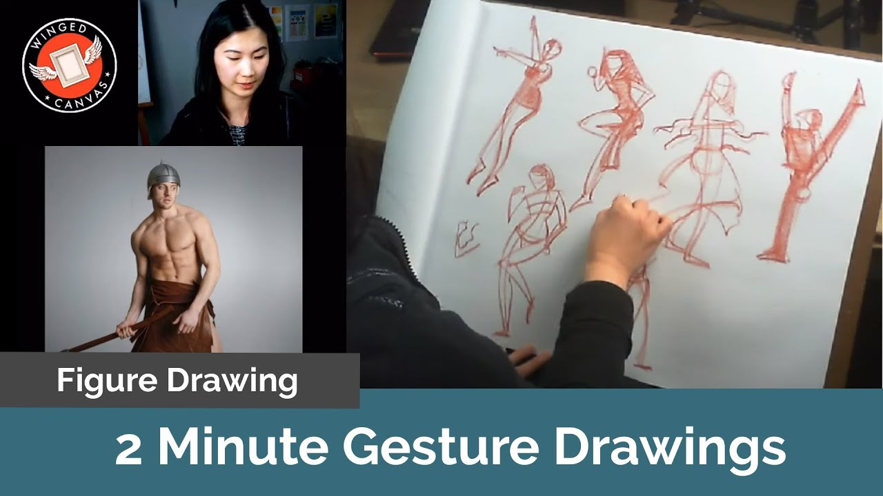 Figure Drawing Demo with Fei Lu - Quick Gestures