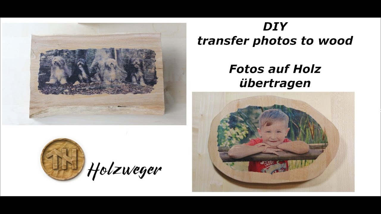 foto auf holz transfer photo to wood wooden photos diy holzweger youtube. Black Bedroom Furniture Sets. Home Design Ideas