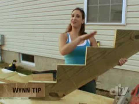 Building Outdoor Wooden Stairs Diy Network Youtube | Prefab Outdoor Wood Stairs | Manufactured Home | Trailer | 8 Foot | New Style | Portable