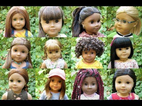 All my American Girl dolls 2017