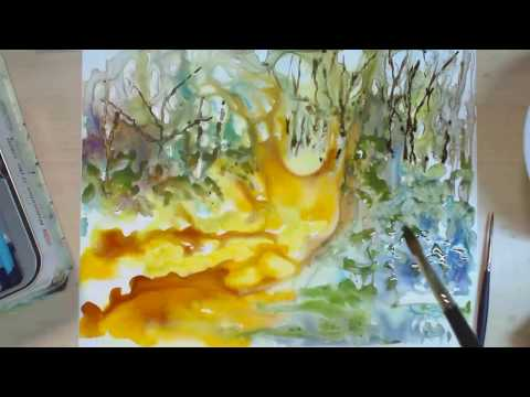 Speed Painting – How to Paint a Landscape – Country Road
