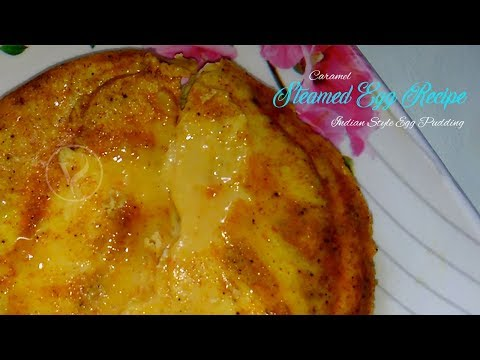 easy steamed egg curry | egg pan cake curry | indian spicy egg pudding recipe | egg special recipe