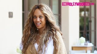 Tyra Banks Steps Out For Lunch With A Friend At The Montage Hotel In Beverly Hills 8.17.18