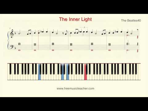 """How To Play Piano: The Beatles """"The Inner Light"""" Piano Tutorial by Ramin Yousefi"""