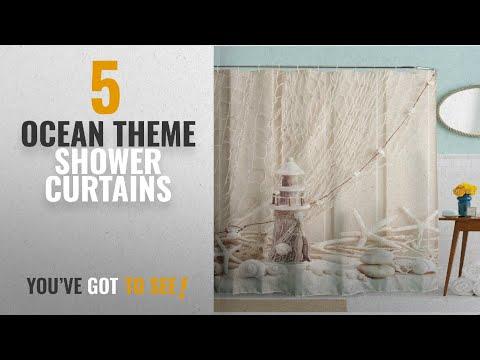 Top 10 Ocean Theme Shower Curtains [2018]: Nautical Seashell Decor Shower Curtain Fabric, Unique