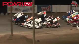 POWRi 305 Winged Sprint Car Highlights 4/7/18