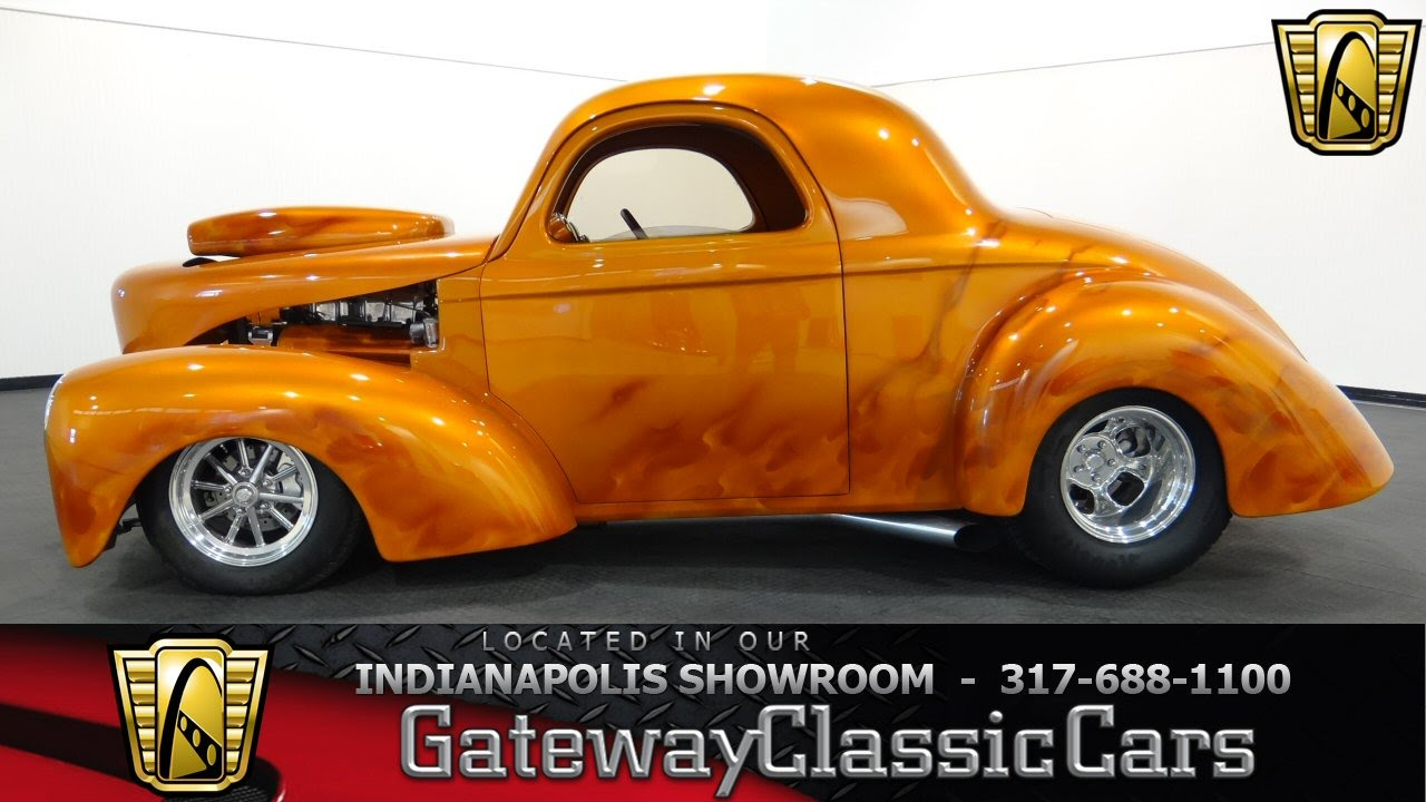 Cars For Sale Indianapolis >> 1941 Willys Coupe #465-ndy Gateway Classic Cars - Indianapolis - YouTube