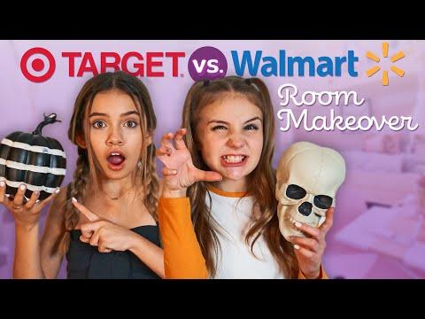 HALLOWEEN ROOM MAKEOVER SHOPPING CHALLENGE (WALMART vs TARGET)💀🎃| Piper Rockelle