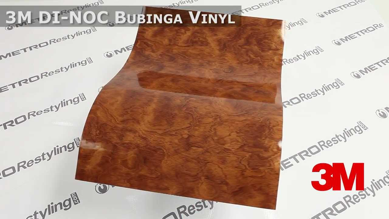 3m di noc bubinga gloss wood vinyl youtube. Black Bedroom Furniture Sets. Home Design Ideas