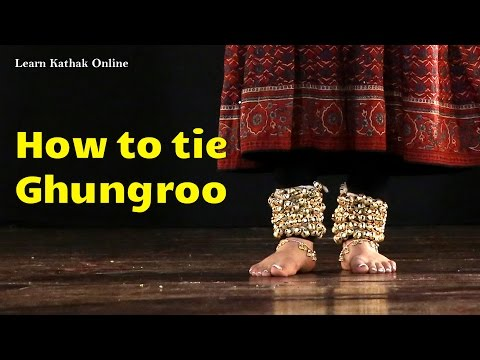 How to tie a ghungroo in the right way | Learn Kathak Videos for beginners