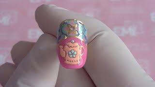 Дизайн ногтей чайник. Учимся рисовать на ногтях по трафарету