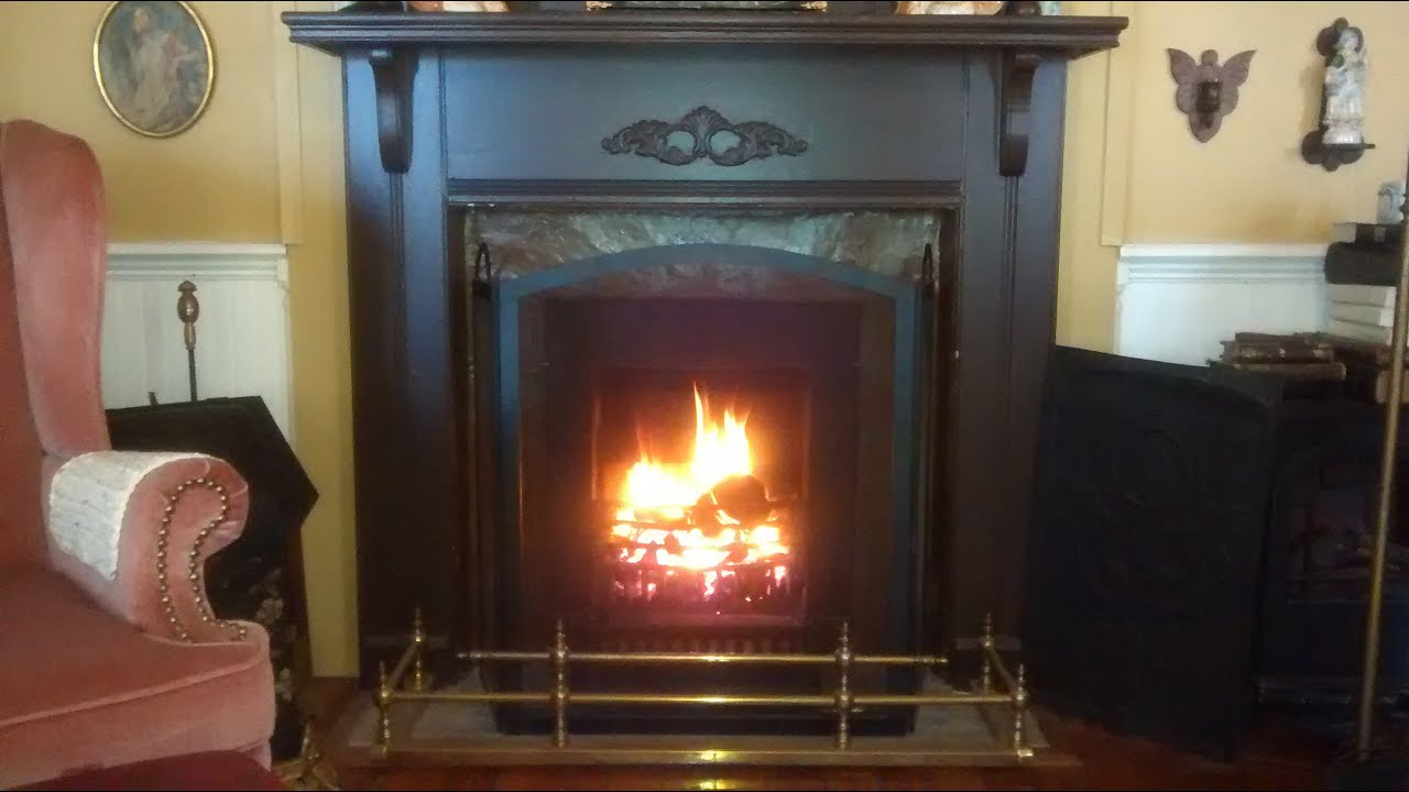 How To Light A Victorian Coal Fireplace YouTube