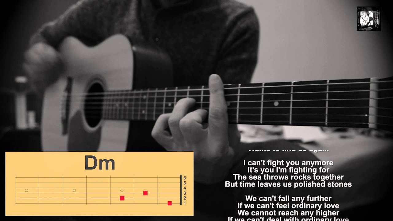 Book Of Love Cover Acoustic ~ U ordinary love how to play the song cover chords