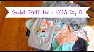 Goodwill Thrift Haul | Kids Clothes | VEDA Day 17
