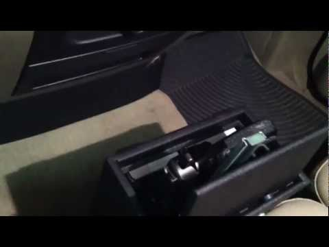 Secure car gun safe