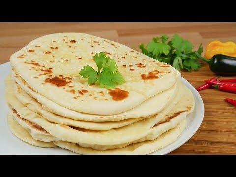 Indisches Naan Brot I Indisches Fladenbrot aus der Pfanne I Pfannenbrot