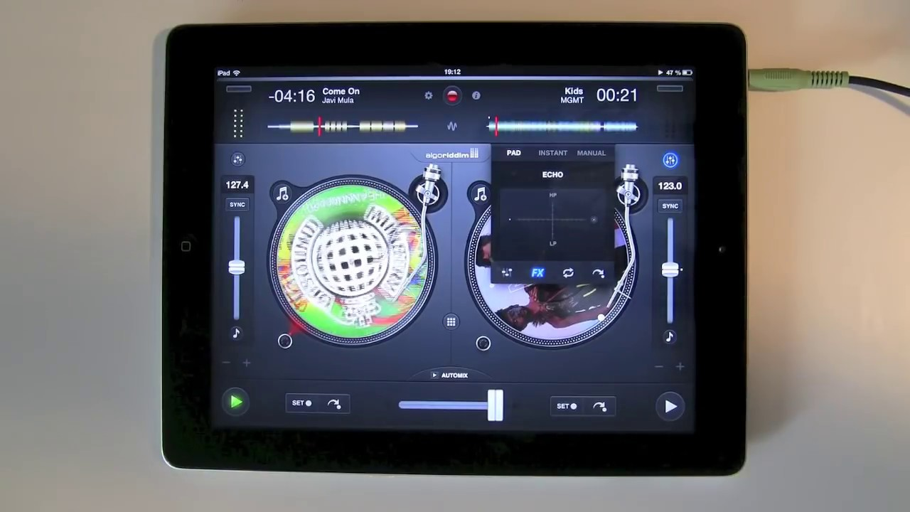 First DJ mix with djay 2 on iPad