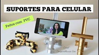 SUPORTE PARA CELULAR – DIYs de Porta celular com cano de PVC