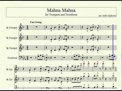 Mahna Mahna for Trumpets and Trombone (Sheet Music in the Description)