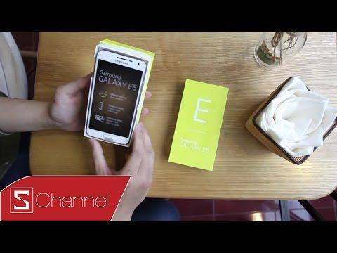 Schannel - Mở hộp Samsung Galaxy E5 : Cấu hình và giá cả hợp lý