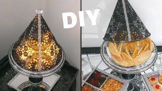 Diy حصري👈اباجورة تحفة و حامل الحلويات( طبيقة