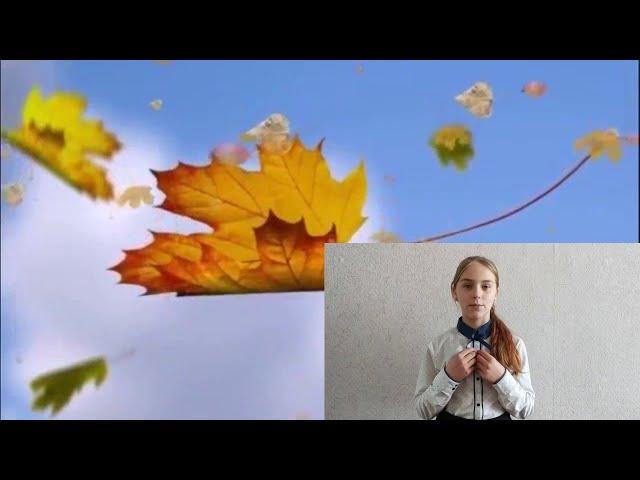 Изображение предпросмотра прочтения – ВикторияПишванова читает произведение «Листья падают, листья падают...» С.А.Есенина